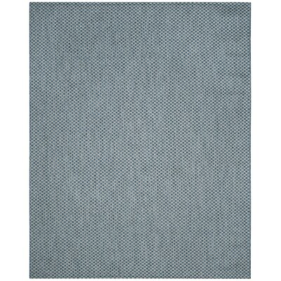 Jefferson Place Blue/Light Gray Outdoor Area Rug Rug Size: Round 67, Color: Black / Light Grey