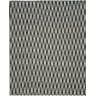 Jefferson Place Black/Light Gray Outdoor Area Rug Rug Size: Runner 23 x 12