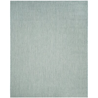 Jefferson Place Light Blue/Light Gray Outdoor Area Rug Rug Size: 9' x 12'
