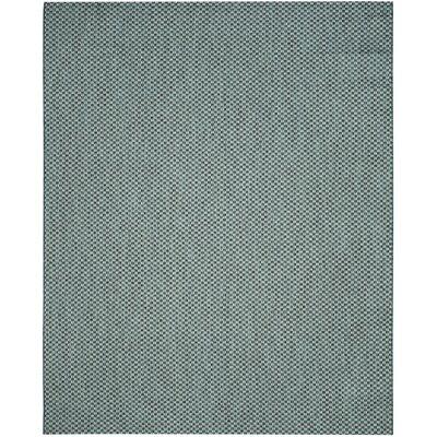 Jefferson Place Turquoise/Light Gray Outdoor Area Rug Rug Size: 27 x 5