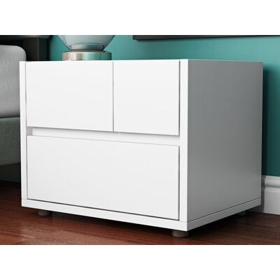 Kew Gardens 2 Drawer Nightstand Finish: White