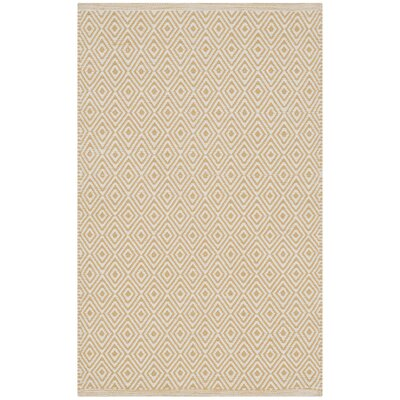 Sessums Hand-Woven Beige/Gold Area Rug Rug Size: Runner 23 x 6