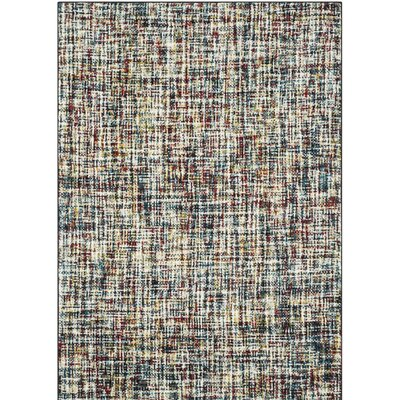 Sevastopol Beige/Blue Area Rug Rug Size: Rectangle 53 x 76