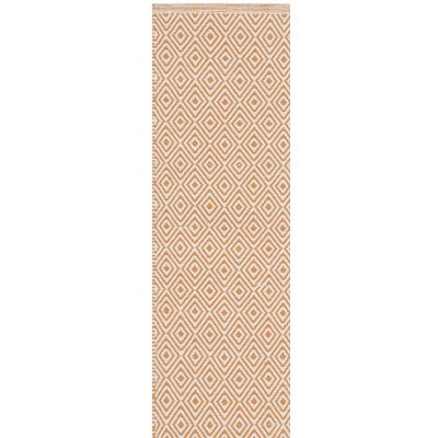 Sessums Hand-Woven Beige/Orange Area Rug Rug Size: Rectangle 9 x 12