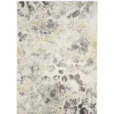 Seybert Beige/Gray Area Rug Rug Size: Round 67