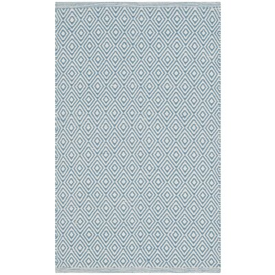 Sessums Hand-Woven Beige/Blue Area Rug