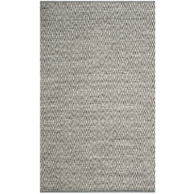 Sessums Hand-Woven Gray Area Rug Rug Size: 3 x 5