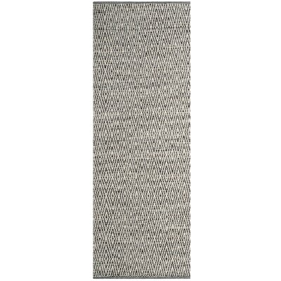 Shevchenko Place Hand-Woven Cotton Gray Area Rug Rug Size: Runner 23 x 9