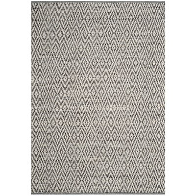 Sessums Hand-Woven Gray Area Rug Rug Size: 10 x 14
