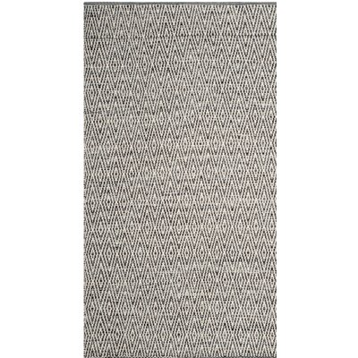 Sessums Hand-Woven Gray Area Rug Rug Size: Round 6