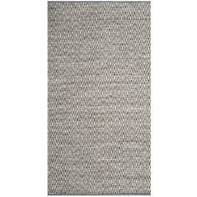 Sessums Hand-Woven Gray Area Rug Rug Size: 9 x 12