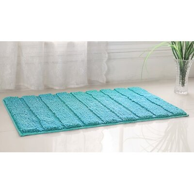Higgins High Pile Bath Rug Color: Green, Size: 20 W x 32 L