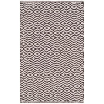 Shevchenko Place Hand-Woven Ivory/Chocolate Area Rug Rug Size: Rectangle 4 x 6