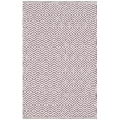 Shevchenko Place Hand-Woven Ivory/Purple Area Rug Rug Size: Rectangle 4 x 6