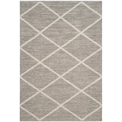 Shevchenko Place Hand-Woven Cream Area Rug Rug Size: Rectangle 9 x 12