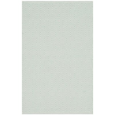 Shevchenko Place Hand-Woven Ivory/Green Area Rug Rug Size: Rectangle 4' x 6'