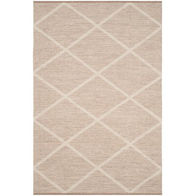 Shevchenko Place Hand-Woven Beige Area Rug Rug Size: 8 x 10