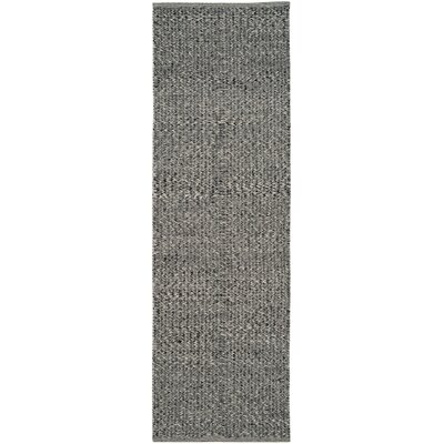 Shevchenko Place Hand-Woven Black/Gray Area Rug Rug Size: Rectangle 4 x 6