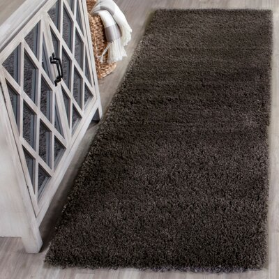 Hornell Dark Gray Area Rug Rug Size: Rectangle 67 x 92