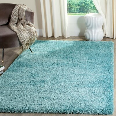 Hornell Power Loomed Blue Area Rug Rug Size: Rectangle 67 x 92