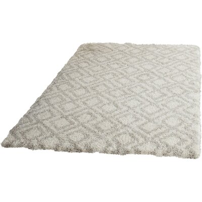 Amicus Ivory/Beige Area Rug Rug Size: Rectangle 4 x 6