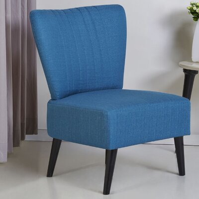 Colman Side Chair Upholstery: Blue