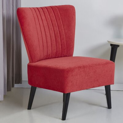 Colman Side Chair Upholstery: Red