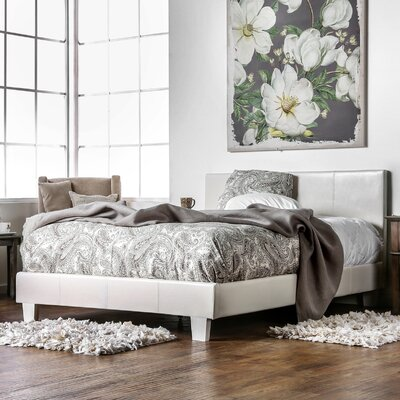 Santoro Upholstered Panel Bed Size: California King, Upholstery: White