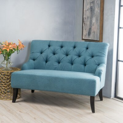 Scalia Settee Color: Dark Teal