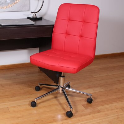 Mid-Back Desk Chair Upholstery: Red