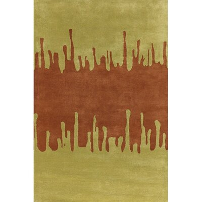 Votaw Green/Orange Area Rug Rug Size: Rectangle 2 x 3