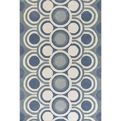 Sieber Blue Area Rug Rug Size: Rectangle 79 x 106