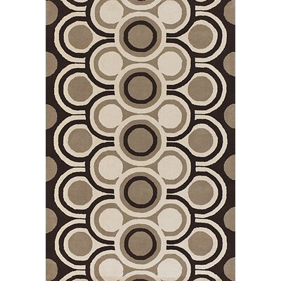 Sieber Brown/Tan Area Rug Rug Size: Round 79
