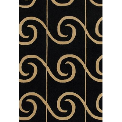 Brookeville Black Area Rug Rug Size: Rectangle 5 x 76