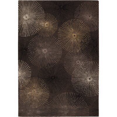 Sumlin Brown/Tan Area Rug Rug Size: Rectangle 79 x 106