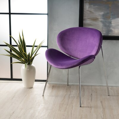 Erisa Velvet Side Chair Upholstery Color: Eggplant