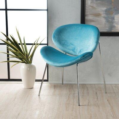 Erisa Velvet Side Chair Upholstery Color: Blue