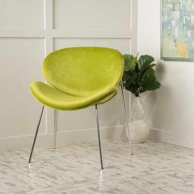 Erisa Side Chair Upholstery: Green