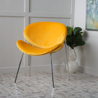 Erisa Velvet Side Chair Upholstery Color: Orange