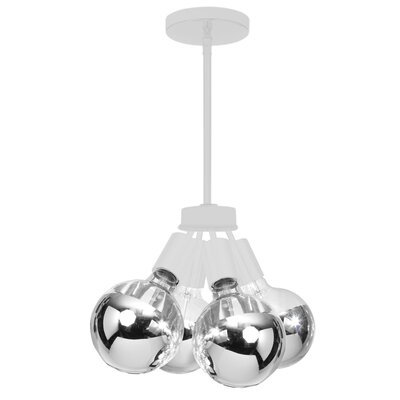 Ditmas Park 4-Light Cluster Pendant Finish: White