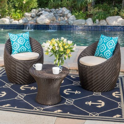 Shue 4 Piece Lounge Seating Group with Cushions