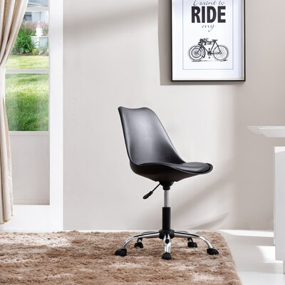 Bergen Beach Desk Chair Upholstery: Black