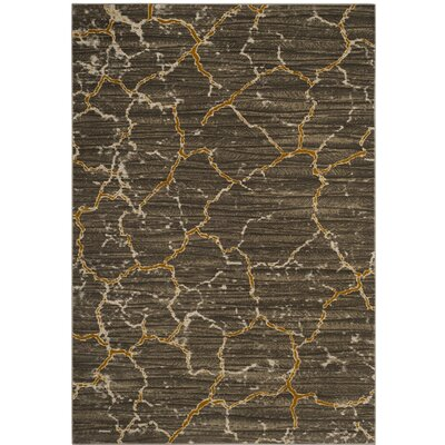 Sorrentino Brown/Beige Area Rug Rug Size: Round 67