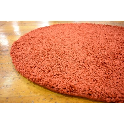 Tatro Red Area Rug Rug Size: Round 2