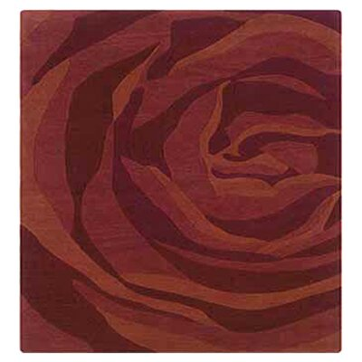 Askins Hand-Tufted Brick/Rust Area Rug Rug Size: 110 x 210