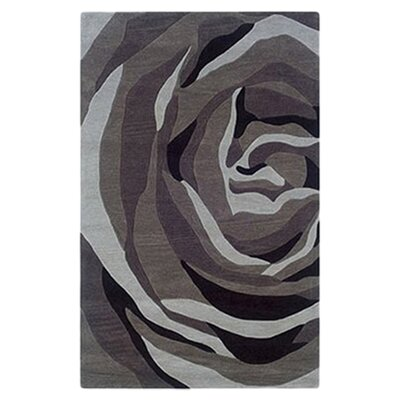 Askins Hand-Tufted Grey/Charcoal Area Rug Rug Size: 110 x 210