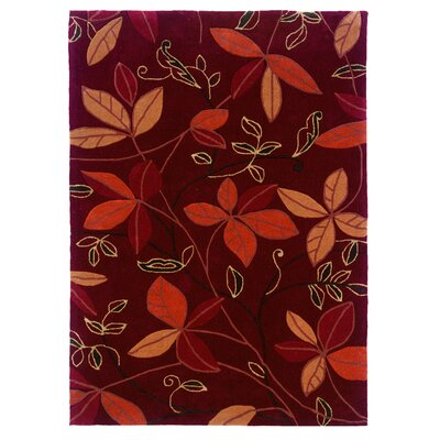 Fugen Modern Hand-Tufted Red Area Rug Rug Size: 5 x 7