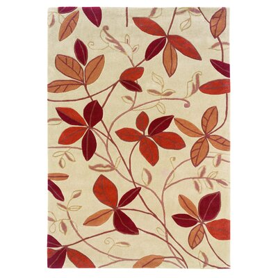 Askins Hand-Tufted Tan Area Rug Rug Size: 5 x 7