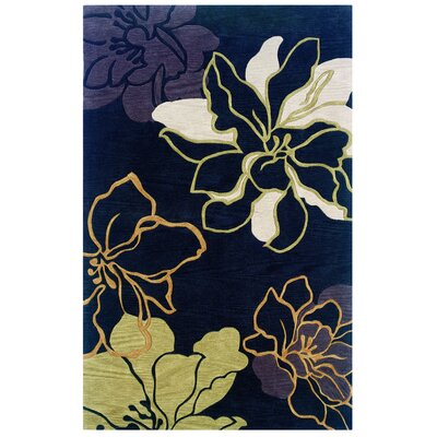 Broken Hand-Tufted Black Area Rug Rug Size: 1'10