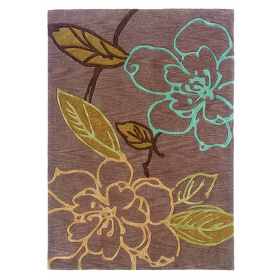 Fugen Hand-Tufted Brown Area Rug Rug Size: 5 x 7
